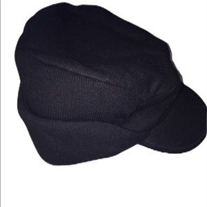 Men's L/XL polyester black winter visor hat